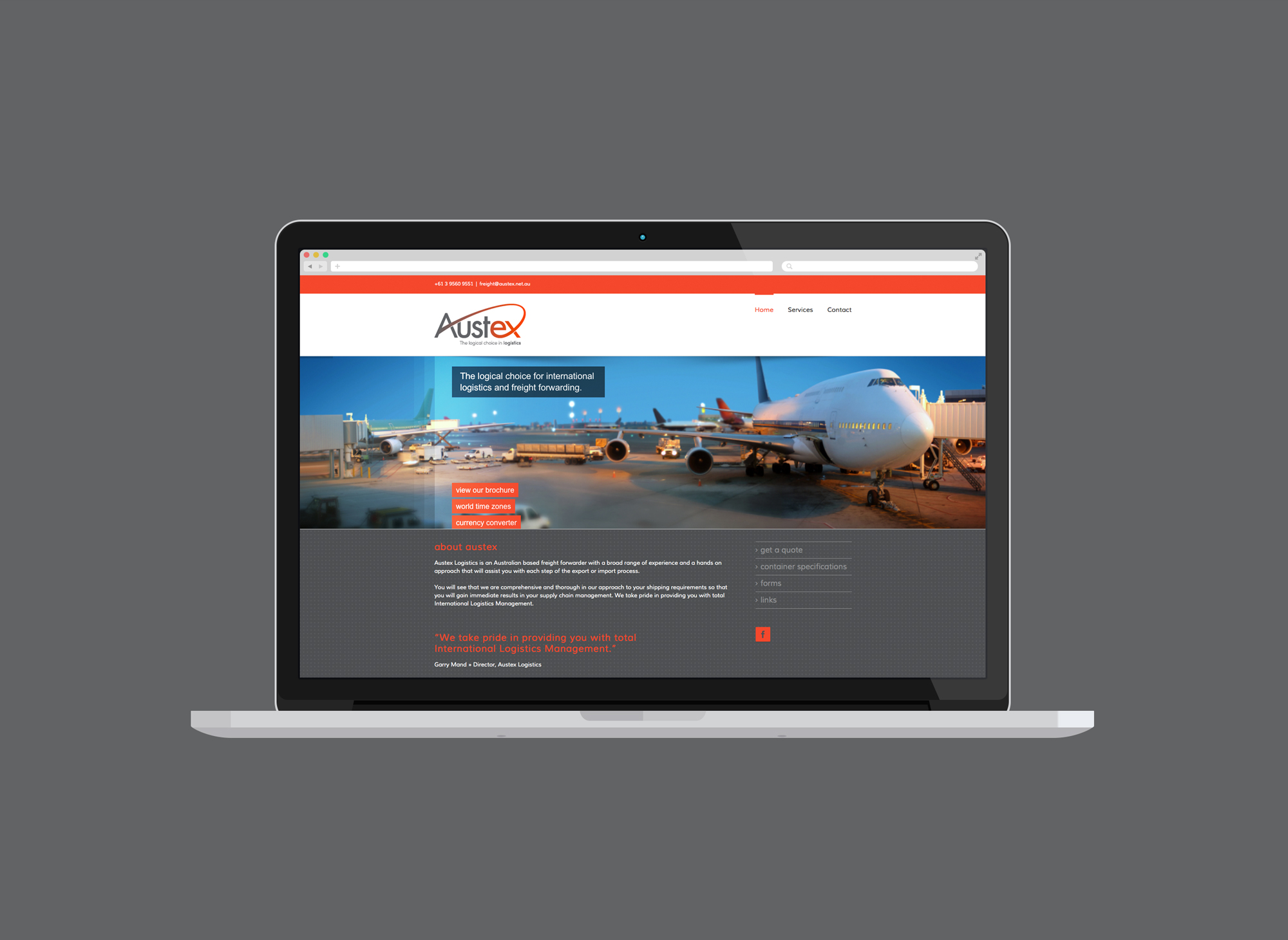 Austex Logistics Website Design