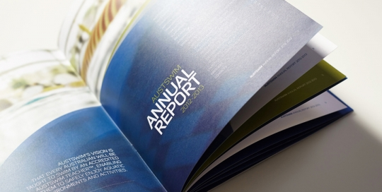 Austswim Annual Report Design Cover