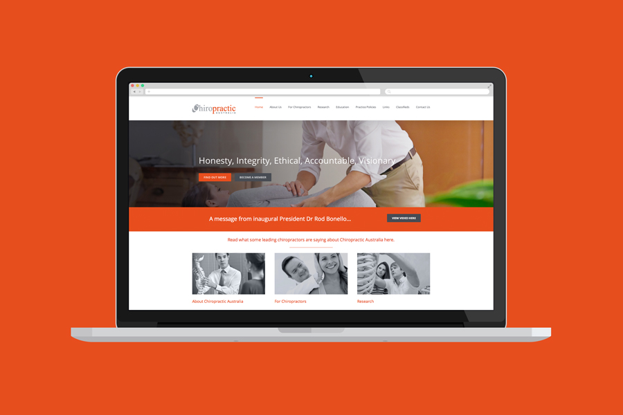 Chiropractic Australia Website Design