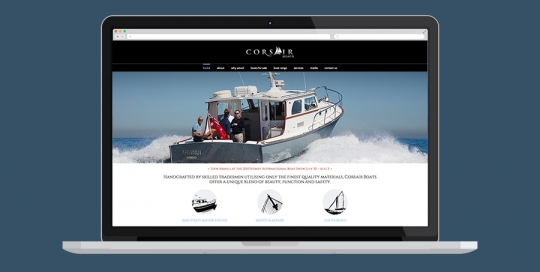 Corsair Boats Website Design
