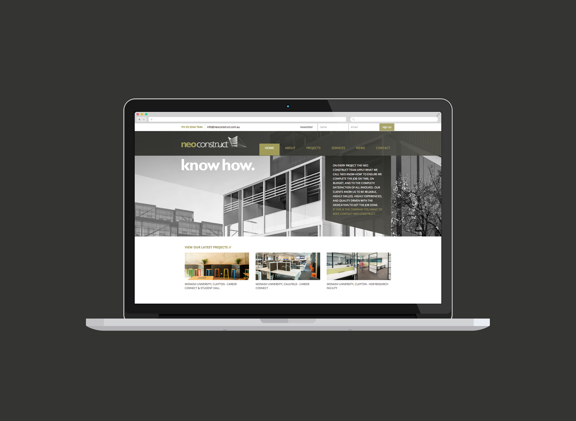 Neo Construct Website Design