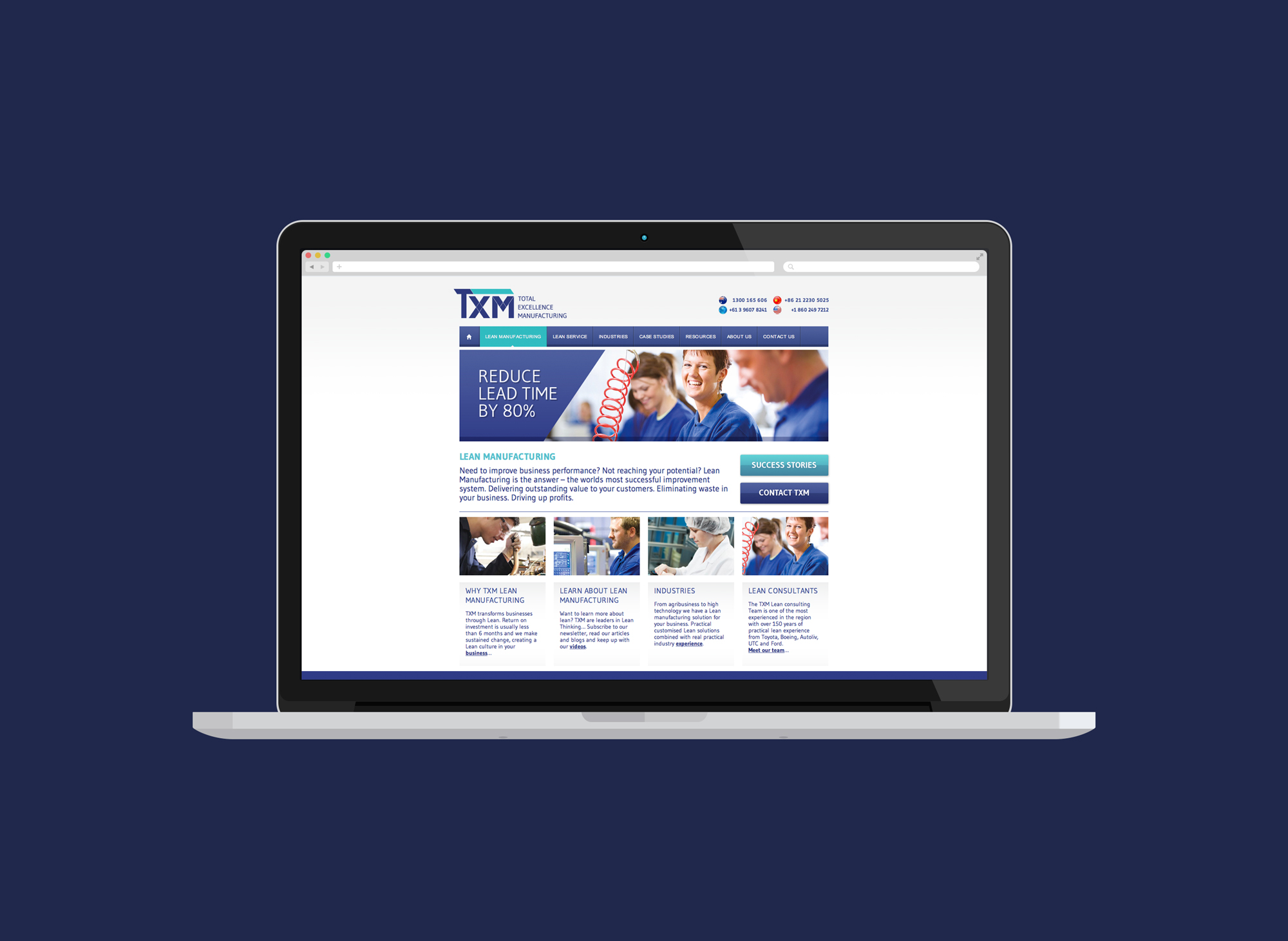 TXM Lean Solutions Website Design