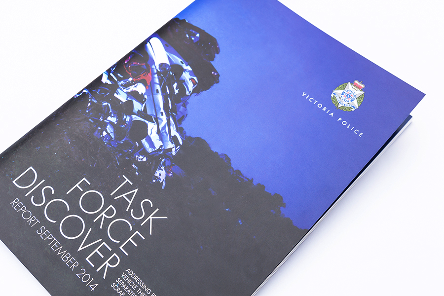 Victoria Police Task Force Discover Report Design Cover