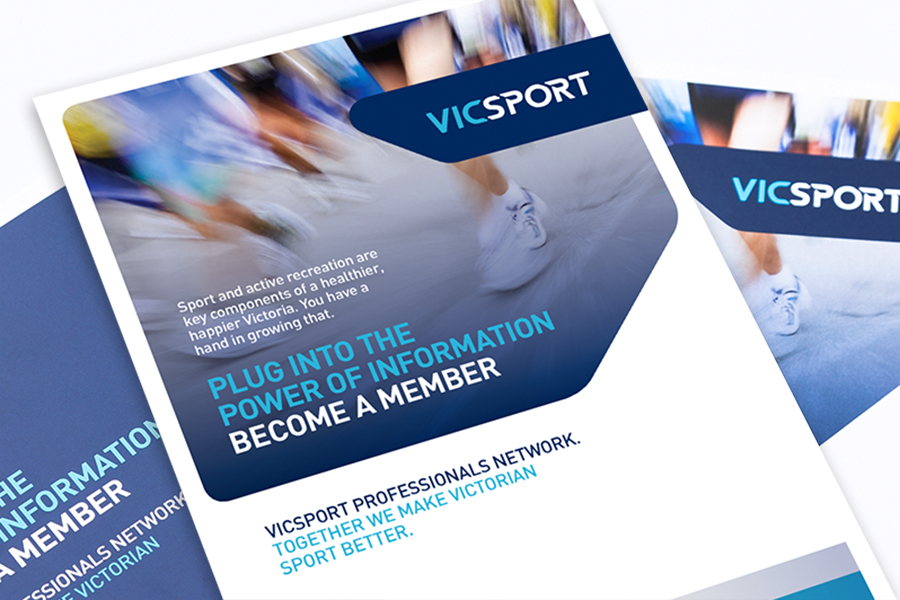 Vicsport Member Brocure Design