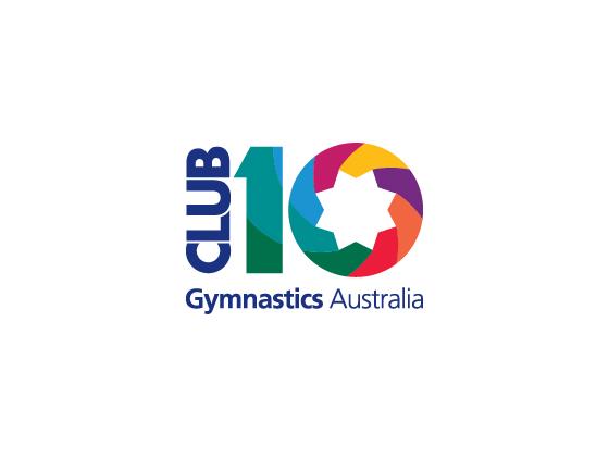 Gymnastics Australia Club10 Branding Logo