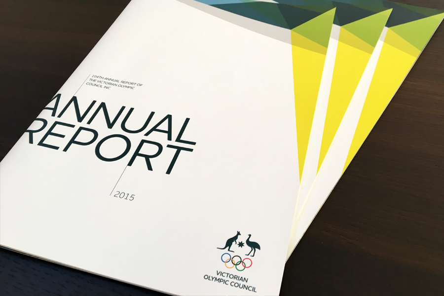 Victorian Olympic Council Annual Report Design