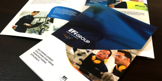 EFI Group Company Credentials Brochure Design