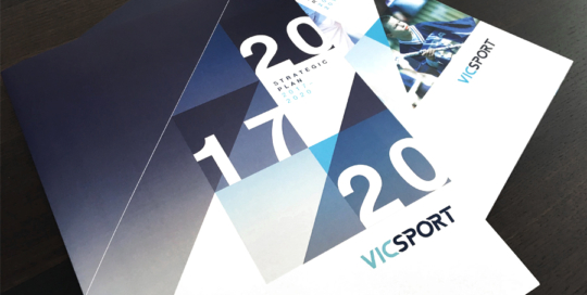 Vicsport Strategic Plan & Annual Report Design